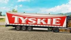 Скин Tyskie на шторный полуприцеп для Euro Truck Simulator 2