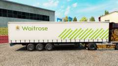 Скин Waitrose на шторный полуприцеп для Euro Truck Simulator 2