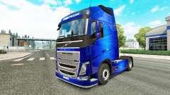 Скин Fantastic Blue на тягач Volvo для Euro Truck Simulator 2