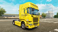 Скин Correios на тягач Scania Streamline для Euro Truck Simulator 2
