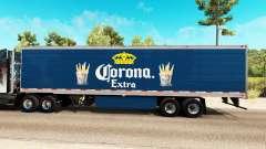 Скин Corona Extra на рефрижераторный полуприцеп для American Truck Simulator