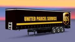 Скин United Parcel Service на шторный полуприцеп для Euro Truck Simulator 2