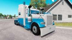 Скин Baby Blue and White на тягач Peterbilt 389 для American Truck Simulator
