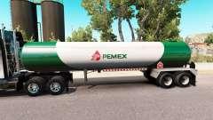 Скин Pemex v3 на газовый полуприцеп-цистерну для American Truck Simulator