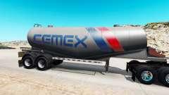 Скин Cemex на полуприцеп-цистерну для цемента для American Truck Simulator