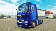 Скин Fantastic Blue на тягач MAN для Euro Truck Simulator 2