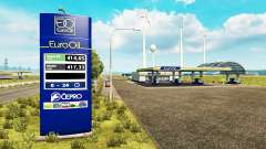 Новые окрасы для АЗС v0.5 для Euro Truck Simulator 2