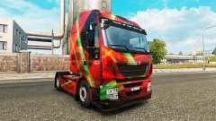 Скин Red Effect на тягач Iveco для Euro Truck Simulator 2