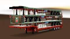 Низкорамный трал с грузом полуприцепов для Euro Truck Simulator 2