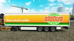 Скин Globus на шторный полуприцеп для Euro Truck Simulator 2
