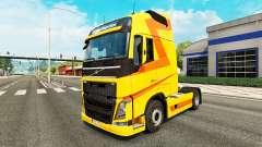 Скин Yellow на тягач Volvo для Euro Truck Simulator 2