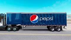 Скин Pepsi на шторный полуприцеп для American Truck Simulator
