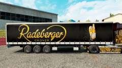 Скин Radeberger Pilsner на шторный полуприцеп для Euro Truck Simulator 2