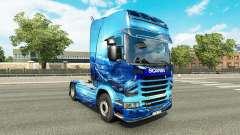 Скин Light Blue на тягач Scania для Euro Truck Simulator 2