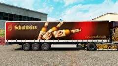 Скин Schultheiss на шторный полуприцеп для Euro Truck Simulator 2