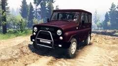 УАЗ-315195 Хантер турбодизель v2.0 для Spin Tires