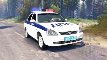 LADA Priora Полиция ДПС (ВАЗ-2170) v2.0 для Spin Tires