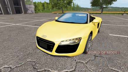 Audi R8 V10 Spyder v1.1 для Farming Simulator 2017