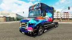 Скин Neon на тягач Scania T для Euro Truck Simulator 2