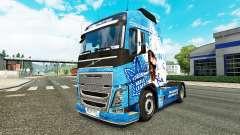 Скин Toronto Maple Leafs на тягач Volvo для Euro Truck Simulator 2
