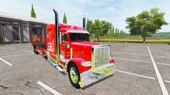 Peterbilt 388 flatbed auto load для Farming Simulator 2017