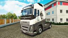 Скин Lion Cool на тягач Volvo для Euro Truck Simulator 2