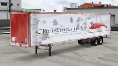 Сборник скинов Christmas v2.0 на полуприцеп для American Truck Simulator