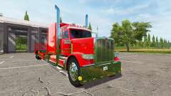 Peterbilt 388 flatbed для Farming Simulator 2017