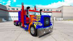 Скин Optimas Prime на тягач Peterbilt 389 для American Truck Simulator