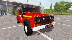 Land Rover Defender 110 feuerwehr для Farming Simulator 2017