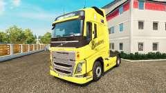Скин Bundaberg на тягач Volvo для Euro Truck Simulator 2