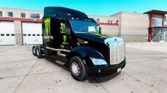 Скин Monster Energy на тягач Peterbilt 579 для American Truck Simulator