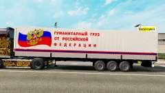 Полуприцеп с гуманитарным грузом для Euro Truck Simulator 2
