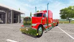Peterbilt 388 flatbed v1.1 для Farming Simulator 2017