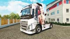 Скин Artistic Girl на тягач Volvo для Euro Truck Simulator 2