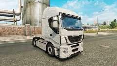 Скин Brushed Aluminum на тягач Iveco для Euro Truck Simulator 2