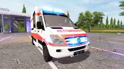 Mercedes-Benz Sprinter Ambulance v0.9 для Farming Simulator 2017