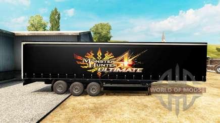 Скин Monster Hunter 4 Ultimate на полуприцеп для Euro Truck Simulator 2