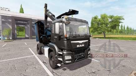 MAN TGS 18.480 wood crusher для Farming Simulator 2017