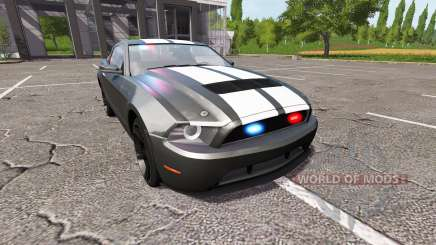 Ford Mustang GT Road Rage Police для Farming Simulator 2017