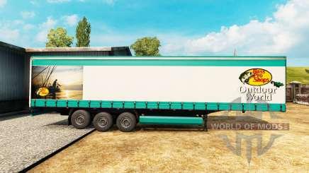 Скин Bass Pro Shops на полуприцеп для Euro Truck Simulator 2