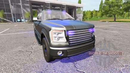 Lizard Pickup TT Unmarked Police для Farming Simulator 2017