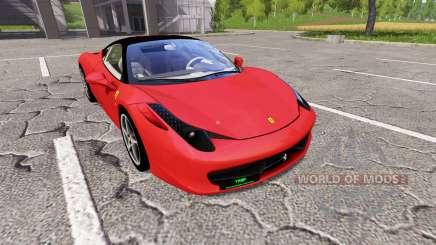 Ferrari 458 Italia для Farming Simulator 2017