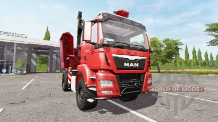 MAN TGS 18.480 wood crusher v1.2 для Farming Simulator 2017