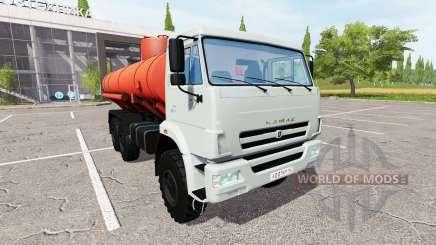 КАМАЗ-43118 бензовоз для Farming Simulator 2017