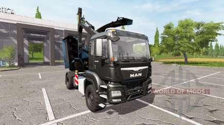MAN TGS 18.480 wood crusher v1.3 для Farming Simulator 2017