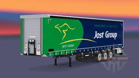 Сборник скинов на шторный полуприцеп для Euro Truck Simulator 2