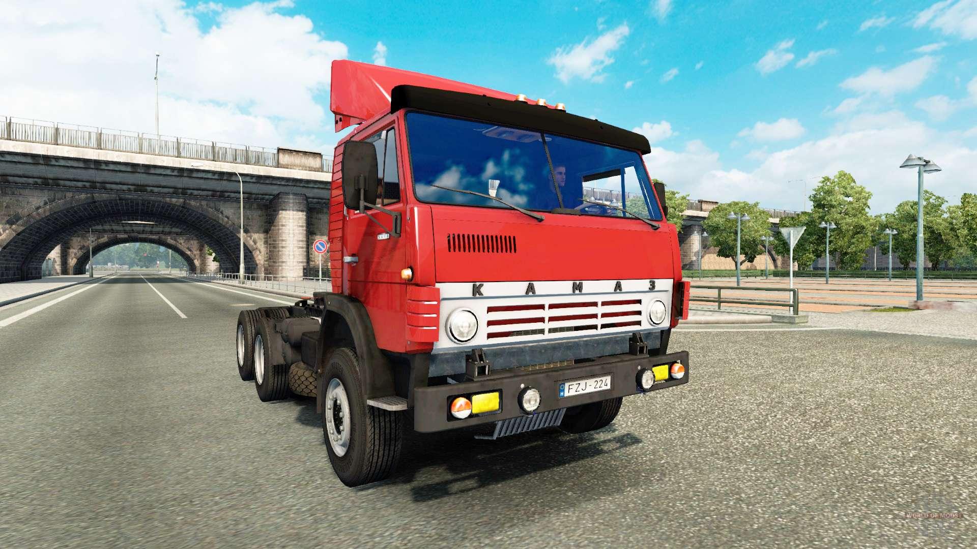 Evro truck simulator моды камаз