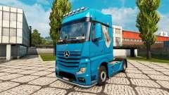 Скин Dove на тягач Mercedes-Benz