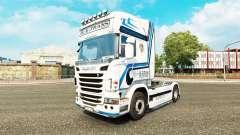 Скин Hovotrans на тягач Scania для Euro Truck Simulator 2